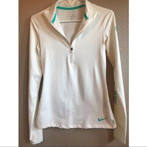 Nike dri-fit white jacket